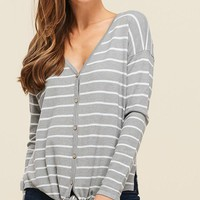 Be Home Top - Light Heather Grey