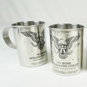 Set of 2 Sailor Jerry Stainless Steel Beer / Moscow Mule Mug Cup