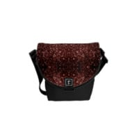 Beautiful Glam Marsala Brown-Red sparkles v2 Courier Bags