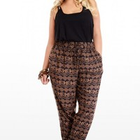 Plus Size Dongo Tribal Printed Pants | Fashion To Figure