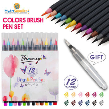 12 Color Brush Set Manga Markers