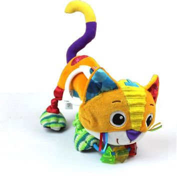 Reborn Baby stuffed Plush cat Toys Dolls Kids educational Toys Crib Pram Car Stroller hanging Toys for Children brinquedos LF103