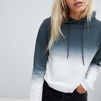 ASOS DESIGN Hoodie In Dip Dye at asos.com