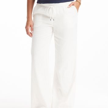 Joie White Cotton Pant
