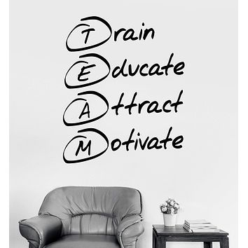Vinyl Wall Decal Office Motivation Quote Team Stickers Mural Unique Gift (ig3659)