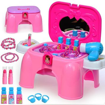 Child furniture toys set baby girl simulation make up toy set girl simulation dresser pretend play classic toys TY81