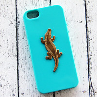 Crocodile iPhone Case Animal iPhone 6 Plus Cover Gold iPhone 5s Alligator Samsung Galaxy S3 Case Samsung Galaxy S4 Case iPhone 6 Cases Cute