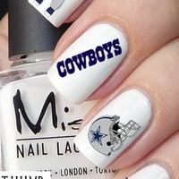 50pc Dallas Cowboys nail decal set