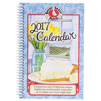Vintage Style 2017 Goosebury Patch Planner. Recipes/Watercolor Art. 2017 Planner