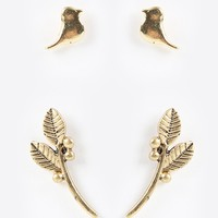 Lovebirds And Branches Earrings Set