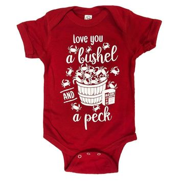 Love You A Bushel & A Peck (Red) / Baby Onesuit