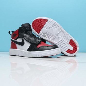 Air Jordan 1 Black Red White Toddler Kids Shoes - Best Deal Online