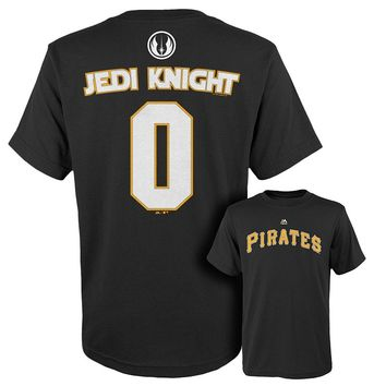 Majestic Pittsburgh Pirates Star Wars Jedi Knight Name and Number Tee Tee - Boys 8-20, Size: