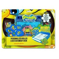 SpongeBob by Nickelodeon personalized roller & go stationary desk set