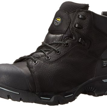 """Timberland PRO Men's 6"""" Endurance Puncture Resistant CSA Steel-Toe Work and Hunt Boot Black Full Grain Leather 11.5 D(M) US"""