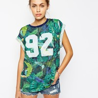 Element Tropical T-Shirt With 92 Print
