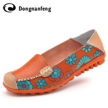 New Fashion Women Shoes Flats Sandals Girl Ladies Mujer Summer Flower Genuine Cow Leat