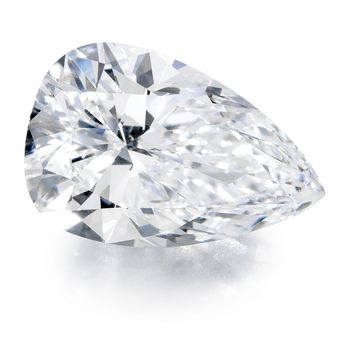 Diamond Veneer Cubic Zirconia Intensely Radiant Pear Shape Loose Stone