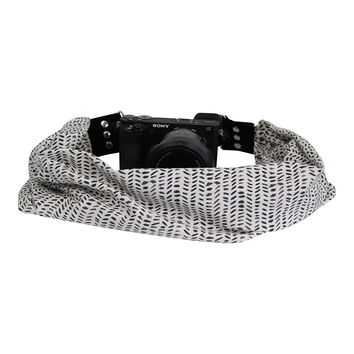 Scarf Camera Strap with Hidden Pocket (Kyla)