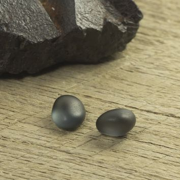 3.26ct TW Natural Burmese Blue/Grey Spinel Water Worn Pebble Pair