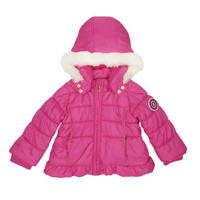 Baby Solid Ruffle Puffer Coat by Juicy Couture