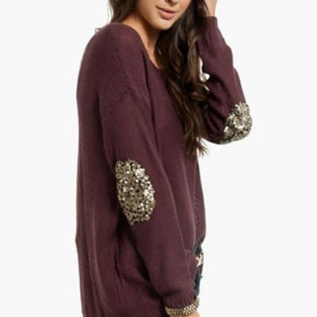 Glam Patched Sweater $54