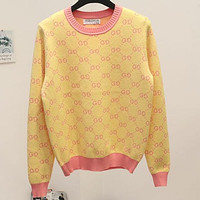 Gucci Double G Letter Pullover Sweater Women's Sweaters