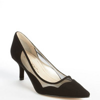 Caparros In Sync Crepe Mesh Kitten Heel Pumps