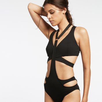 Michi Splice Harness Swim Bikini Bottom