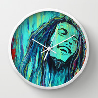 Feelin The Rain Wall Clock by Sophia Buddenhagen