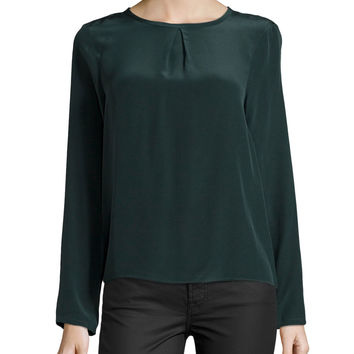 Syracuse Silk Back-Wrap Top,