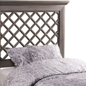 1843 Kuri Headboard - Full/Queen - Rails Included - Distressed Gray Finish - Free Shipping!