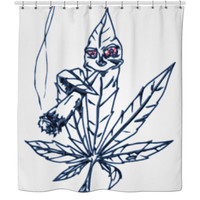 Smoking Weed Shower Curtain