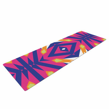 "Miranda Mol ""Tulip Tribal"" Green Blue Yoga Mat"