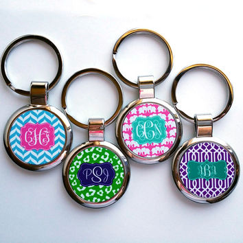 Monogra Metal Keychain | Monogram Key Ring | Personalized Keychain