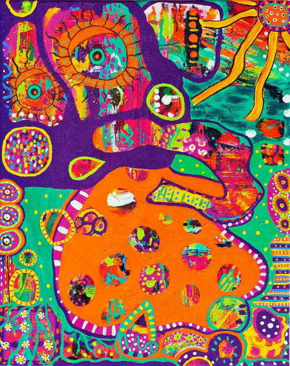 Colorful Abstract Elephant Painting Fun from ...