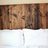 Rustic Vertical Grain Headboard with lighting