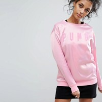 Puma Exclusive To ASOS Satin Oversized Sweatshirt at asos.com