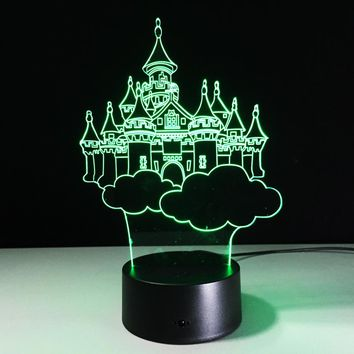 3D Magical Kingdom Lamp With 7 Changable Colors