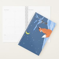 Winter Night Fox Planner