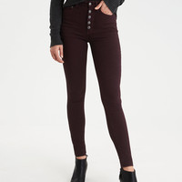 AEO Denim X Super Hi-Rise Jegging, Red