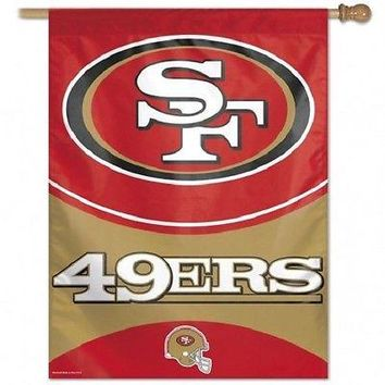 "SAN FRANCISCO 49ERS 27""X37"" BANNER FLAG BRAND NEW WINCRAFT"