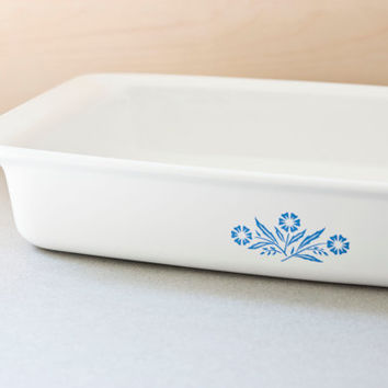 Corning Ware Cornflower Blue Rectangular Casserole, Baker, Brownie or Lasagna Pan, P-332