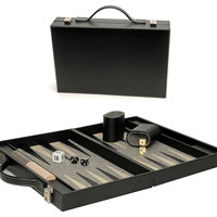 Backgammon Briefcase, Black, Medium, Indoor Games