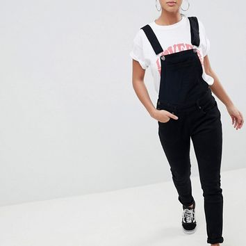 Liquor N Poker Petite Skinny Fit Overalls at asos.com