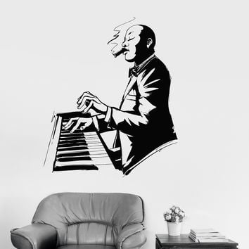 Wall Vinyl Decal Jazz Singer Music Musical Art Mural Stickers Unique Gift (ig3134)