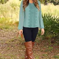 You Have My Blessing Top: Dusky Green