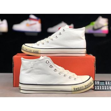 22185383dd4d Converse Tide brand classic high-top men and women canvas sneakers white