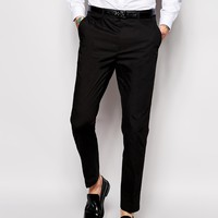 ASOS Slim Fit Suit In Black Cotton Poplin at asos.com