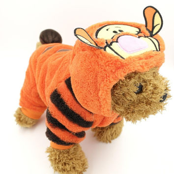 Autumn Winter Small Dog Clothes Fleece Halloween Dog Costume Pet Overalls Dog Jumpsuit Clothing for Small Dog Cat